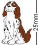Springer Spaniel Dog Brown Badge