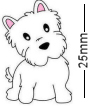 Westie Terrier Dog Badge