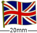 Wavy British Union Jack Flag Badge