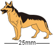 German Shepherd Alsatian Dog Badge