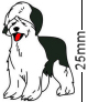 Old English Sheepdog Badge