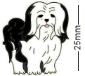 Lhasa Apso Dog Black Badge