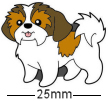 Shih Tzu Dog Brown Badge