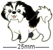 Shih Tzu Dog Black Badge