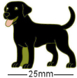 Black Labrador Dog Badge