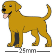 Golden Labrador Dog Badge
