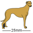 Greyhound Dog Badge Brown