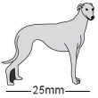 Greyhound Dog Badge Grey