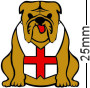 England St George Flag Bulldog Brown