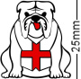 England St George Flag Bulldog White