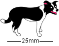 Border Collie 2 Dog Badge