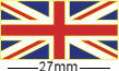 British Union Jack Flag Badge