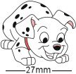 Dalmation Playful Pup Badge