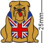 British Union Jack Flag Bulldog Brown