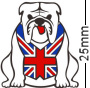 British Union Jack Flag Bulldog White