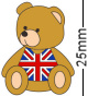 British Union Jack Flag Teddy Bear Badge